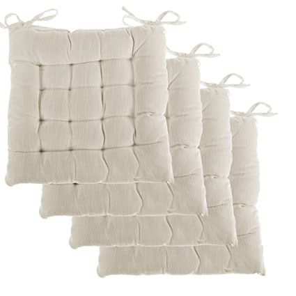 Exceptionnel Dream Home, Set Of 4, Indoor Chair Pads Inches Square Tufted Seat Cushions  Pillows
