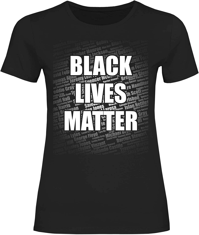 wowshirt T-Shirt Donna Black Lives Matter George Floyd manifestazione Contro Il Razzismo protesta Giustizia