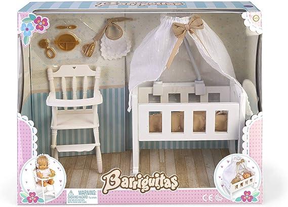 los Barriguitas- Set de Cuna, Sillita Trona y Accesorios para bebé (Famosa 700015557): Amazon.es: Juguetes y juegos