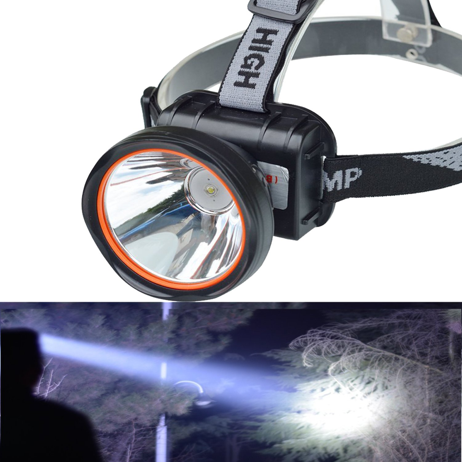 Odear Super Bright LED rechargeable Headlamp Flashlight Torch HeadLamp for Mining Camping Hiking Fishing