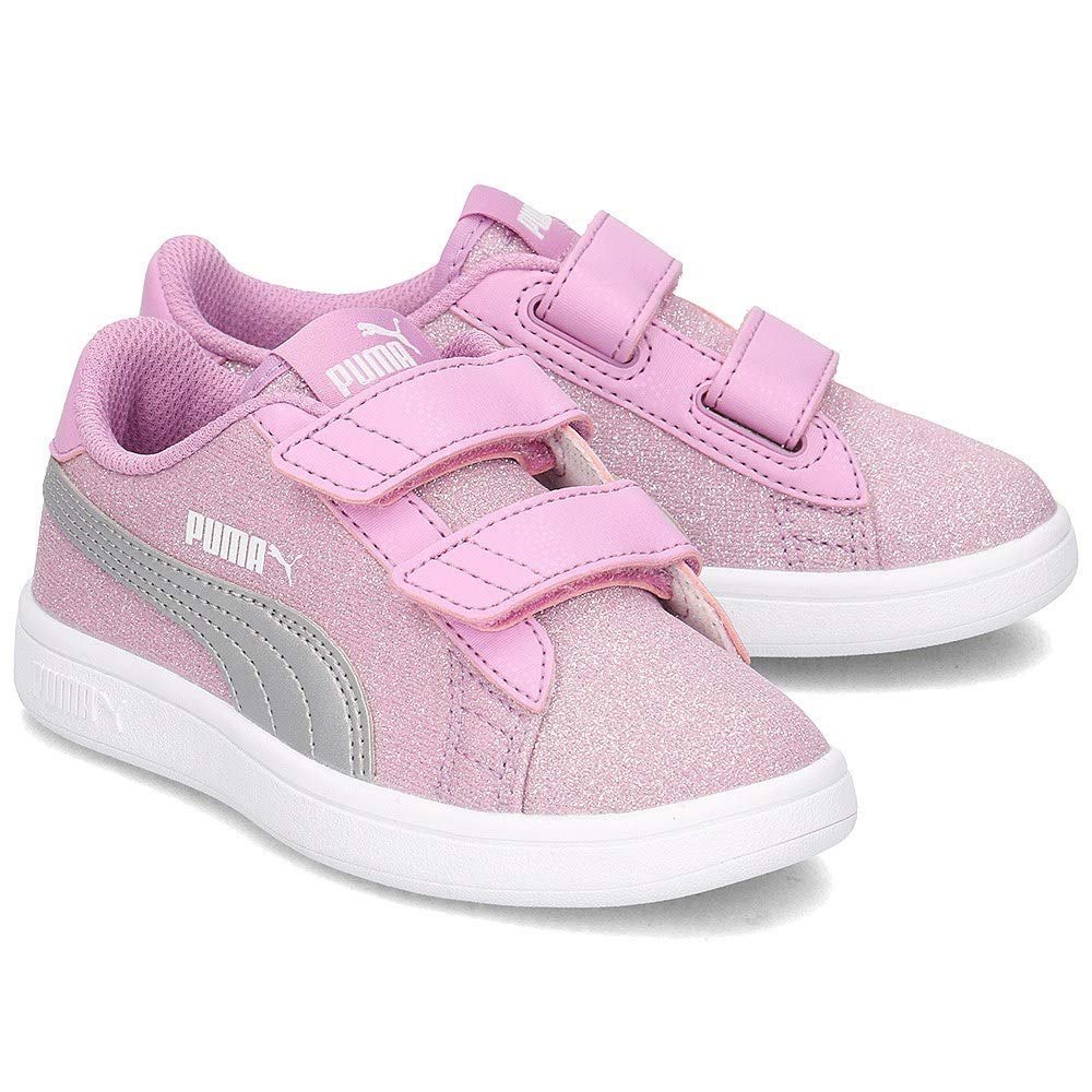 1e984d91dd4aa Puma Baskets Smash V2 Glitz Kid Rose Enfant: Amazon.fr: Chaussures et Sacs