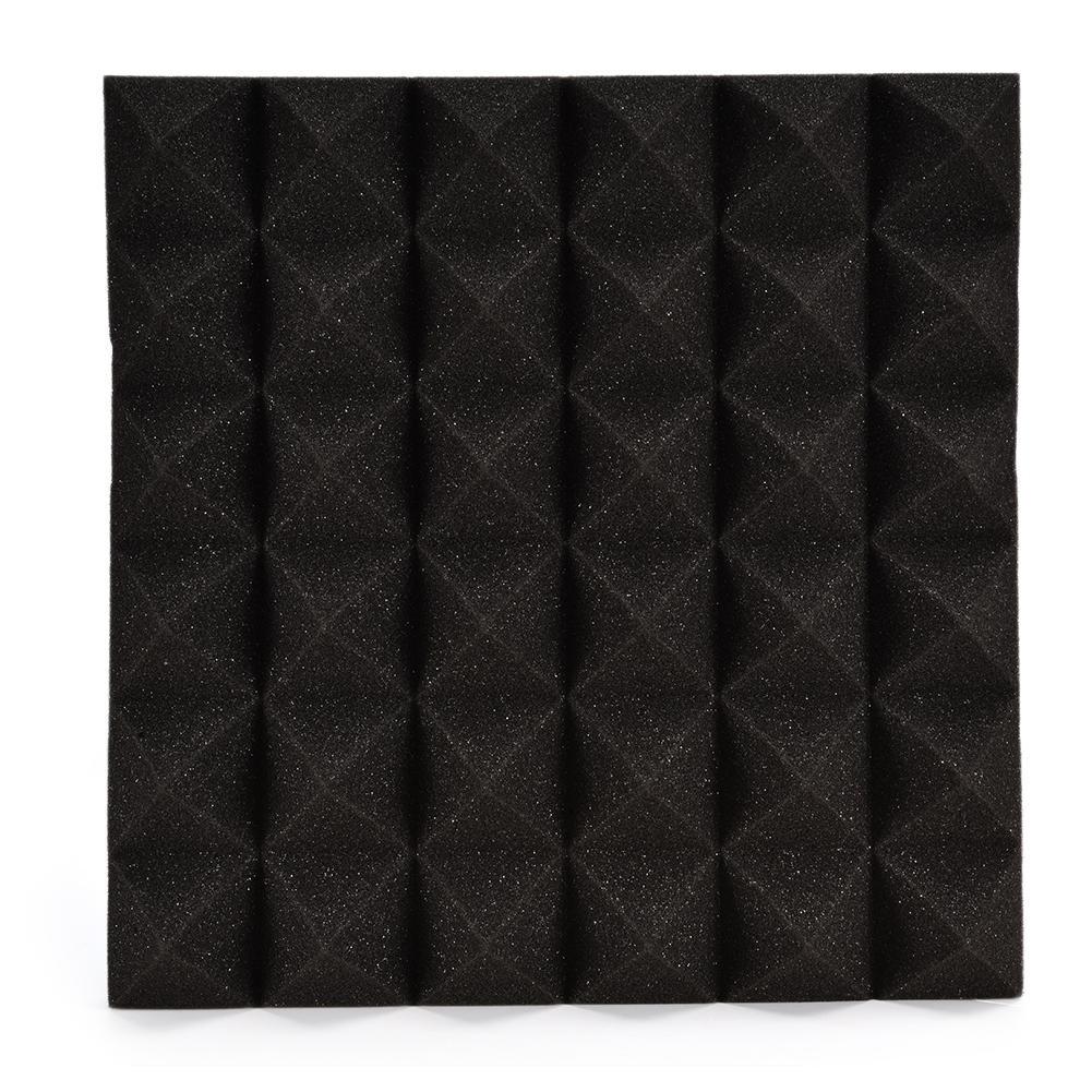 30 * 30 CM Paneles acústicos de pared Ligeros paneles de espuma ignífugos ignífugos Junta piramidal de la forma para la decoración de la puerta de pared Aislamiento acústico Reducción de ruido Wintesty