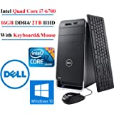 DELL XPS 8900 Intel Core i7-6700 up to 4GHz Quad-Core Gaming Desktop, 16GB DDR4, 2TB HHD,GeForce GTX745, WIN10 Pro (Certified Refurbished)
