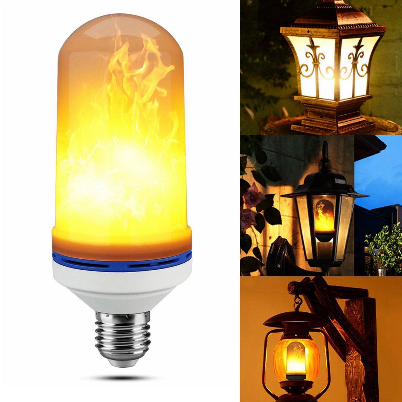 LED炎効果ライト電球、ホーム、ポーチ、ヤードをhangau e26ベース3モード装飾照明ランプ、ベッドルーム、リビングルーム、クラブ、バー、クラブ、パーティー、休日装飾 B078STGQK9 20667