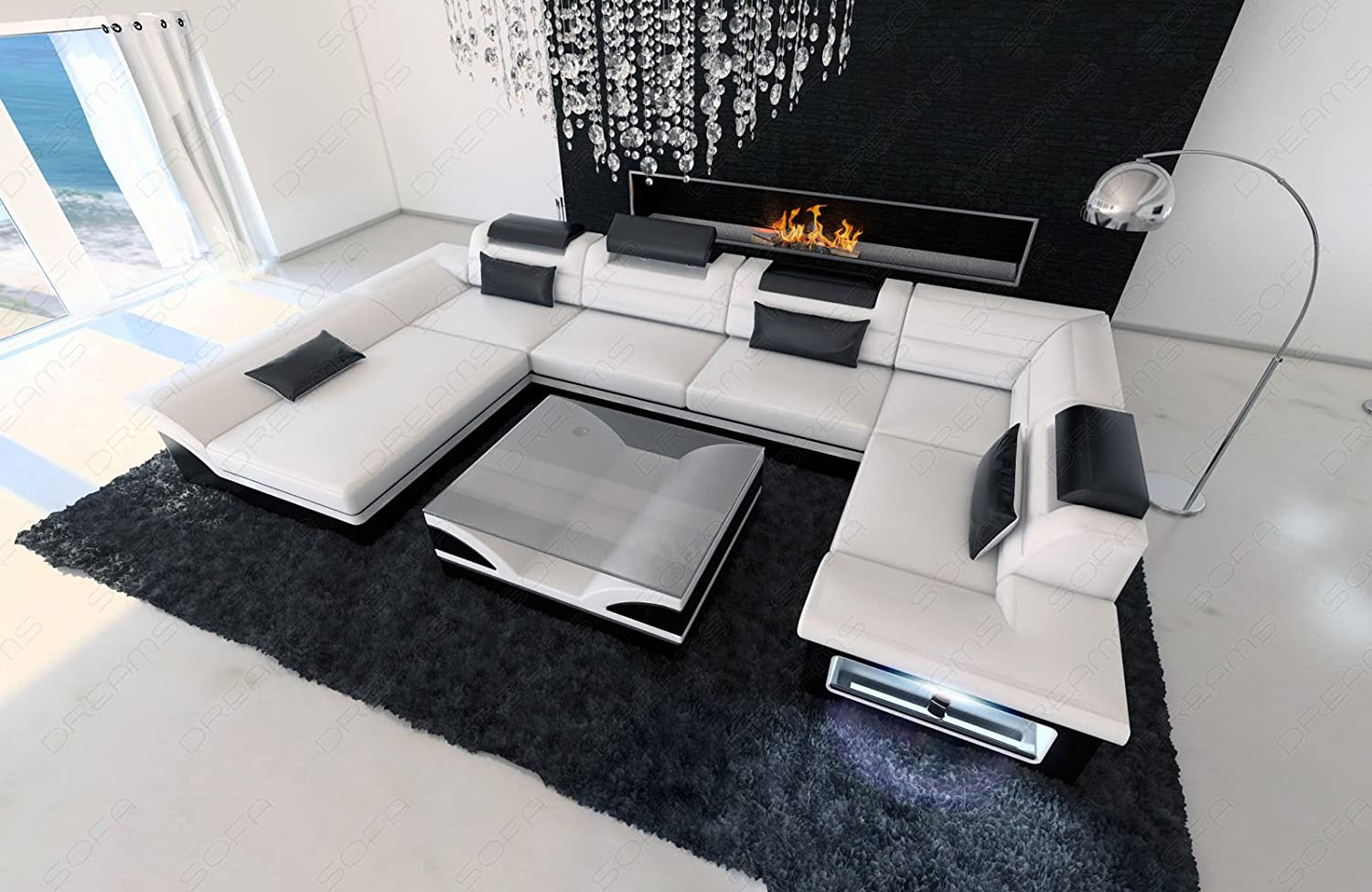 luxus ledercouch. Black Bedroom Furniture Sets. Home Design Ideas