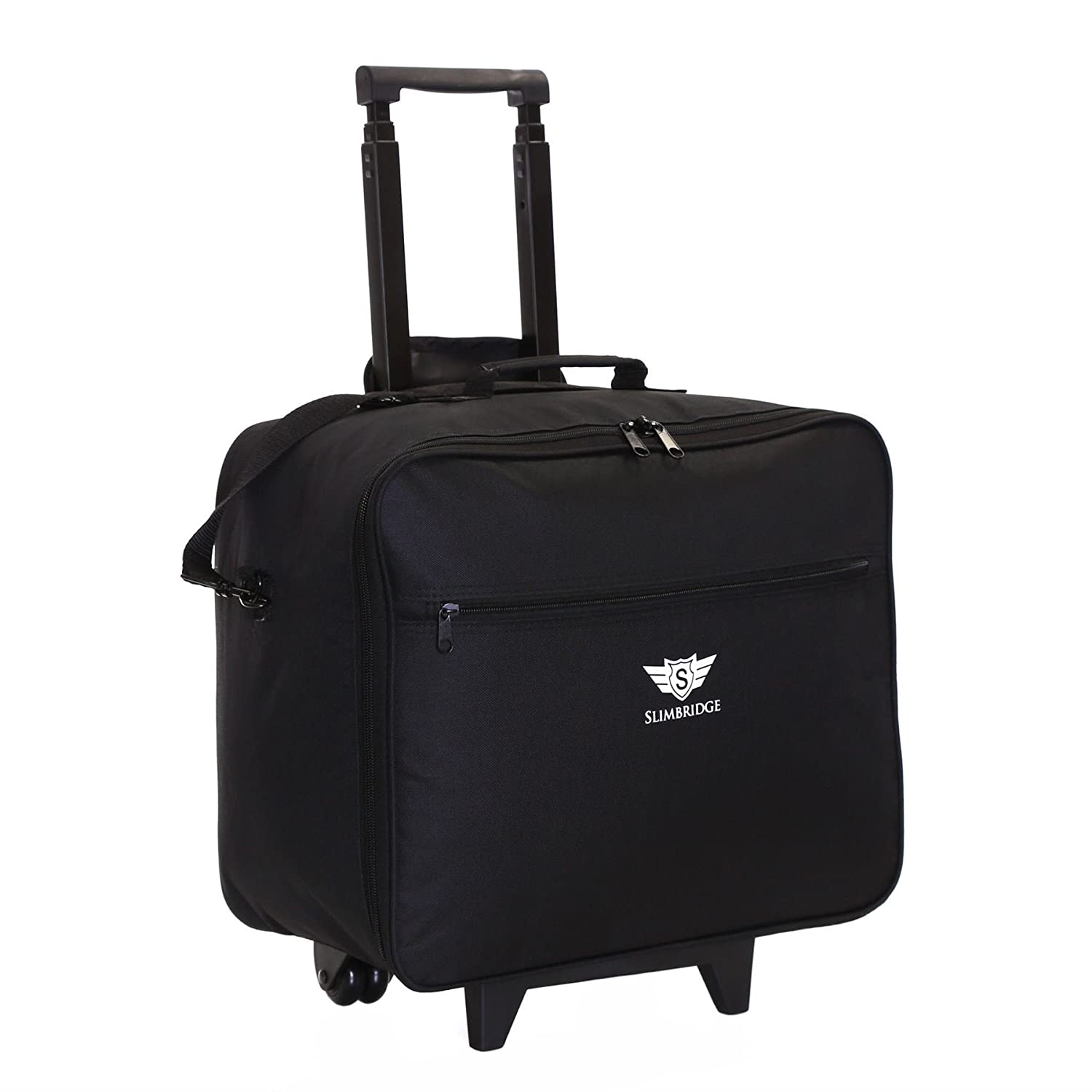 Slimbridge Kalmar Lightweight Business Wheeled Rolling Laptop Trolley Hand Luggage Cabin Bag Case