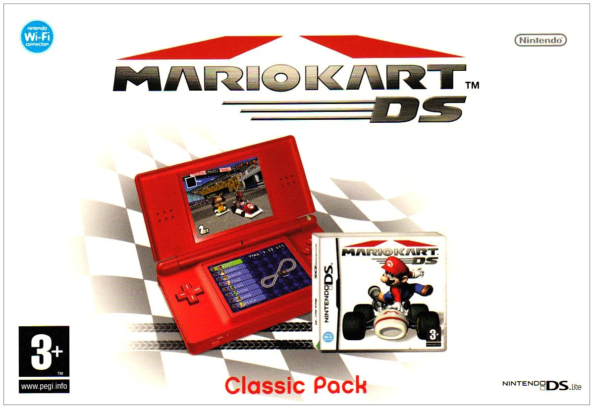 Nintendo Ds Lite Console Red With Mario Kart Bundle Edge Pc Video Games