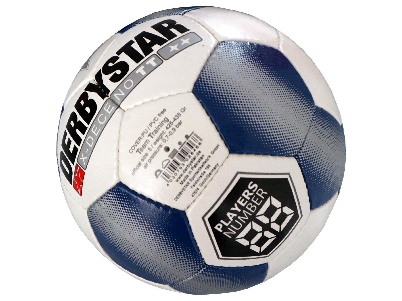 Derbystar X-Deceno TT Fußball Gr.5 Training-Fussball Ball weiß blau Teamsport