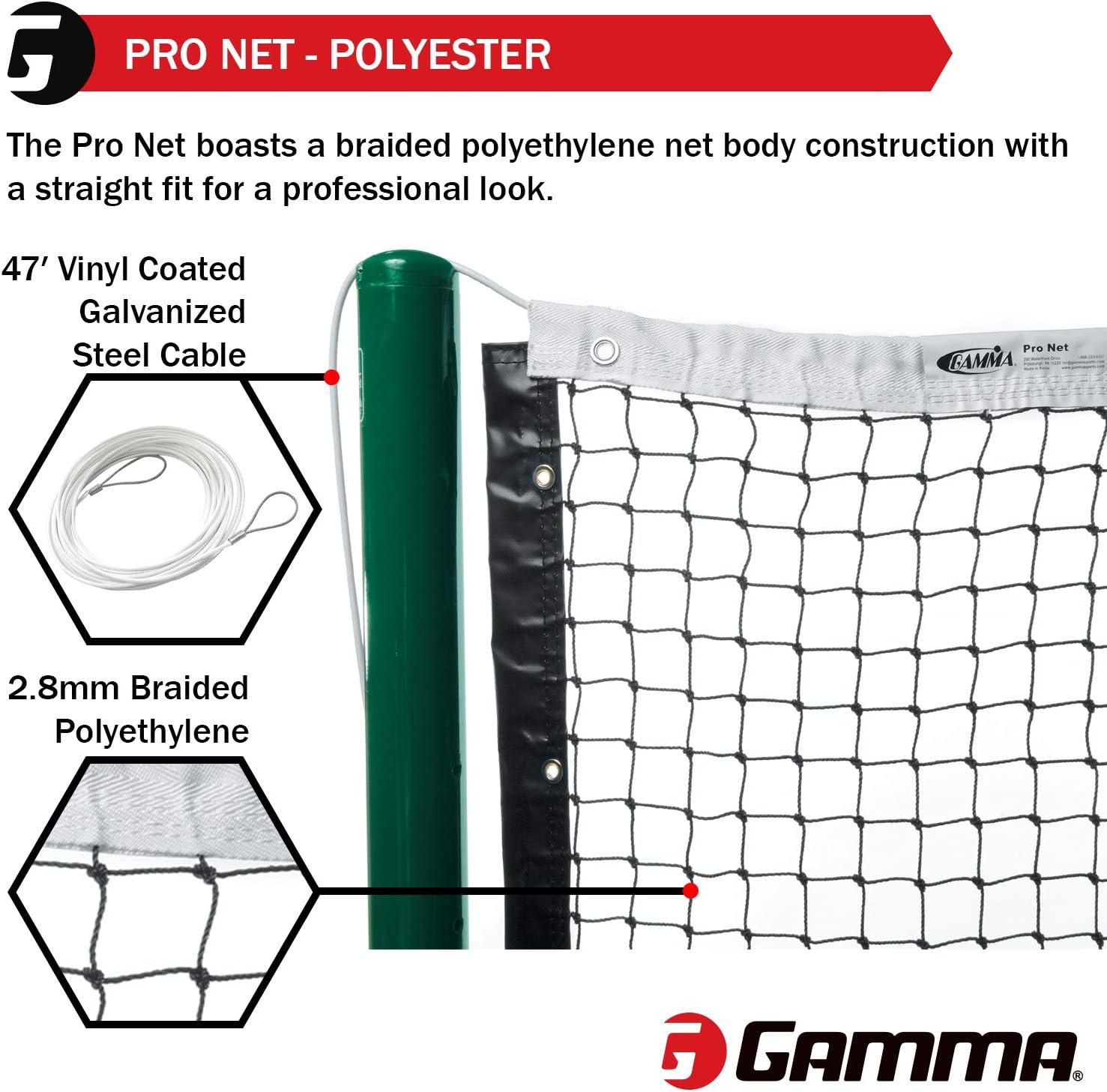 Black//White Gamma Tuff Tennis Net Vinyl Headband
