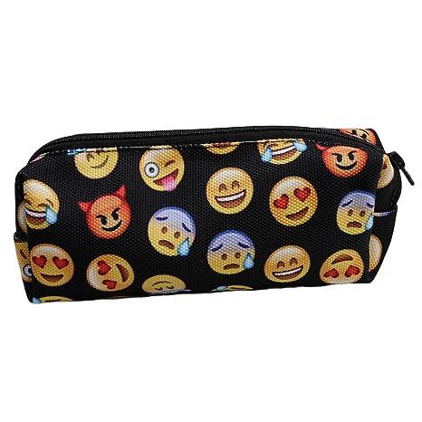 miyaia Emoji impresiones estuche bolsa estudiante lápiz ...