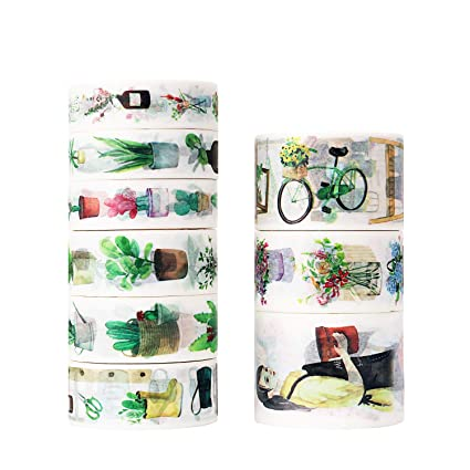 amazon com molshine set of 9 5 5yd roll washi masking tape rh amazon com