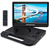 "FANGOR 10.1"" Portable Blu Ray Player, Built in Rechargeable Battery, Support USB/SD Card, HDMI Out & AV in, Snyc Screen…"