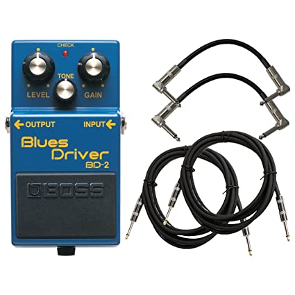 BOSS BD-2 Blues Driver Pedal Bundle w/4 Free Cables