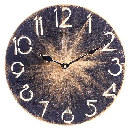 Amazon.com: Relojes de pared – 11.8 in Iron Art Countryside ...