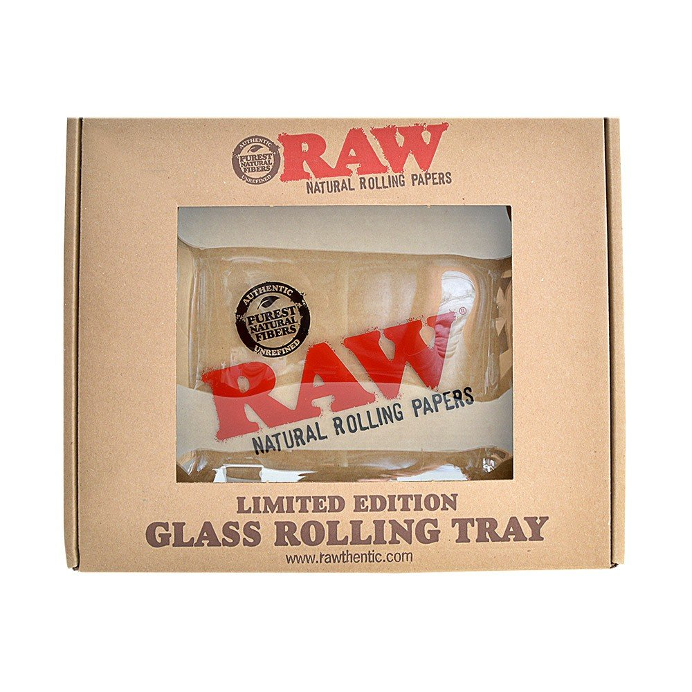 RAW Glass Rolling Tray - Limited Edition Large from RAW Rolling Papers