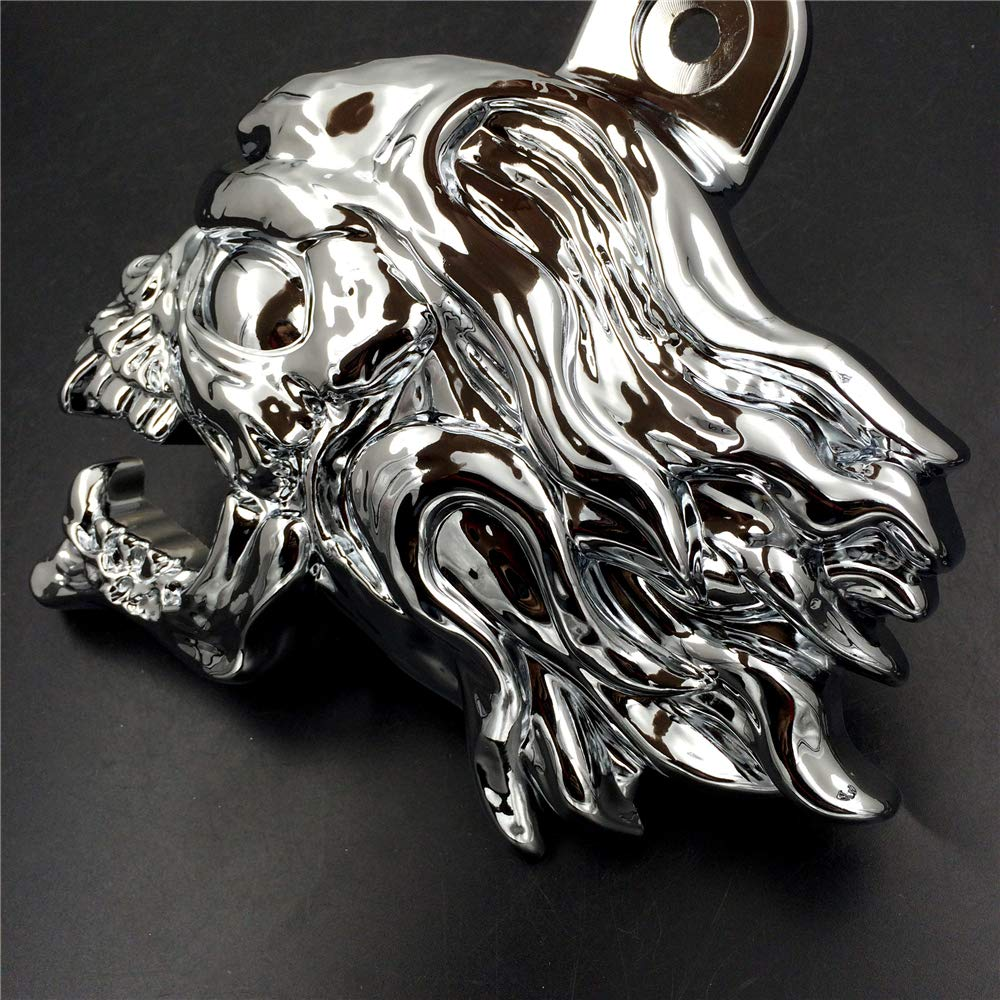 Chrome Ghost Head Wind head horn cover For 1992 and up Harley-Davidson with side mount cowbell and all V-rods
