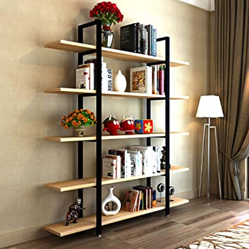 Tribesign 5Tier Home /& Office Etagere Bookshelf Bookcase with Sturdy Metal Frame
