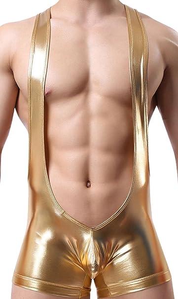 Neiyiku Calzoncillos Charol Boxérs Superior Elástico Ropa Interior para Hombre Underwear Reemplazar a Bañador Atractivo Bling