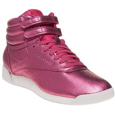 Reebok Freestyle Hi Metallic Damen Sneaker Pink: