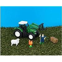 Teamsterz Tractor Playset con Green Tractor y accesorios