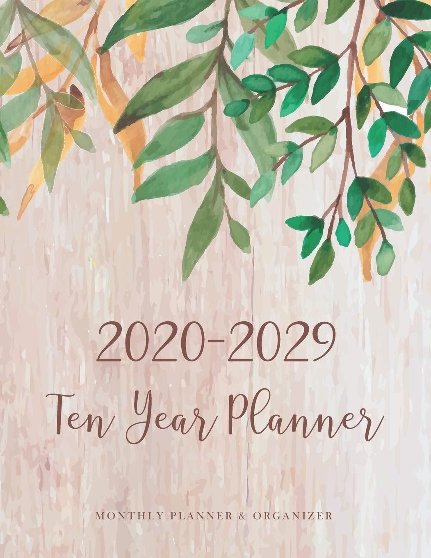 2020-2029 Ten Year Planner: Border Leaves Design | 10 Year ...