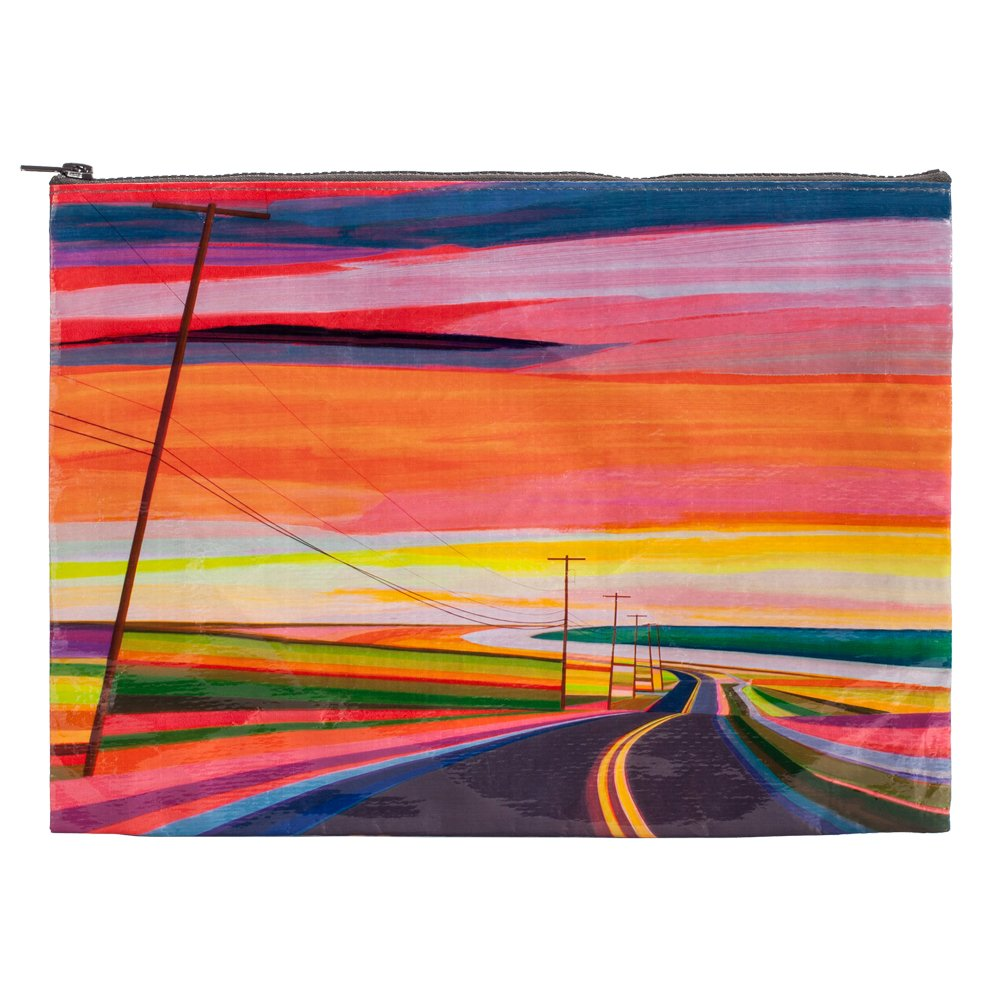 Blue Q Jumbo Pouch Sunset Highway QA1111