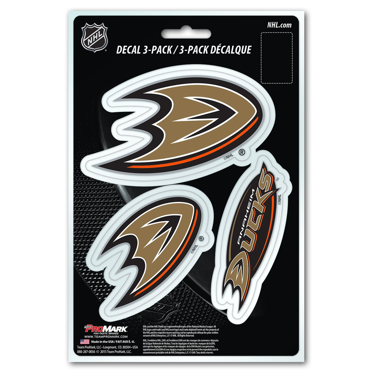 e2eb7c4e Amazon.com : NHL Anaheim Ducks Team Decal, 3-Pack : Sports & Outdoors