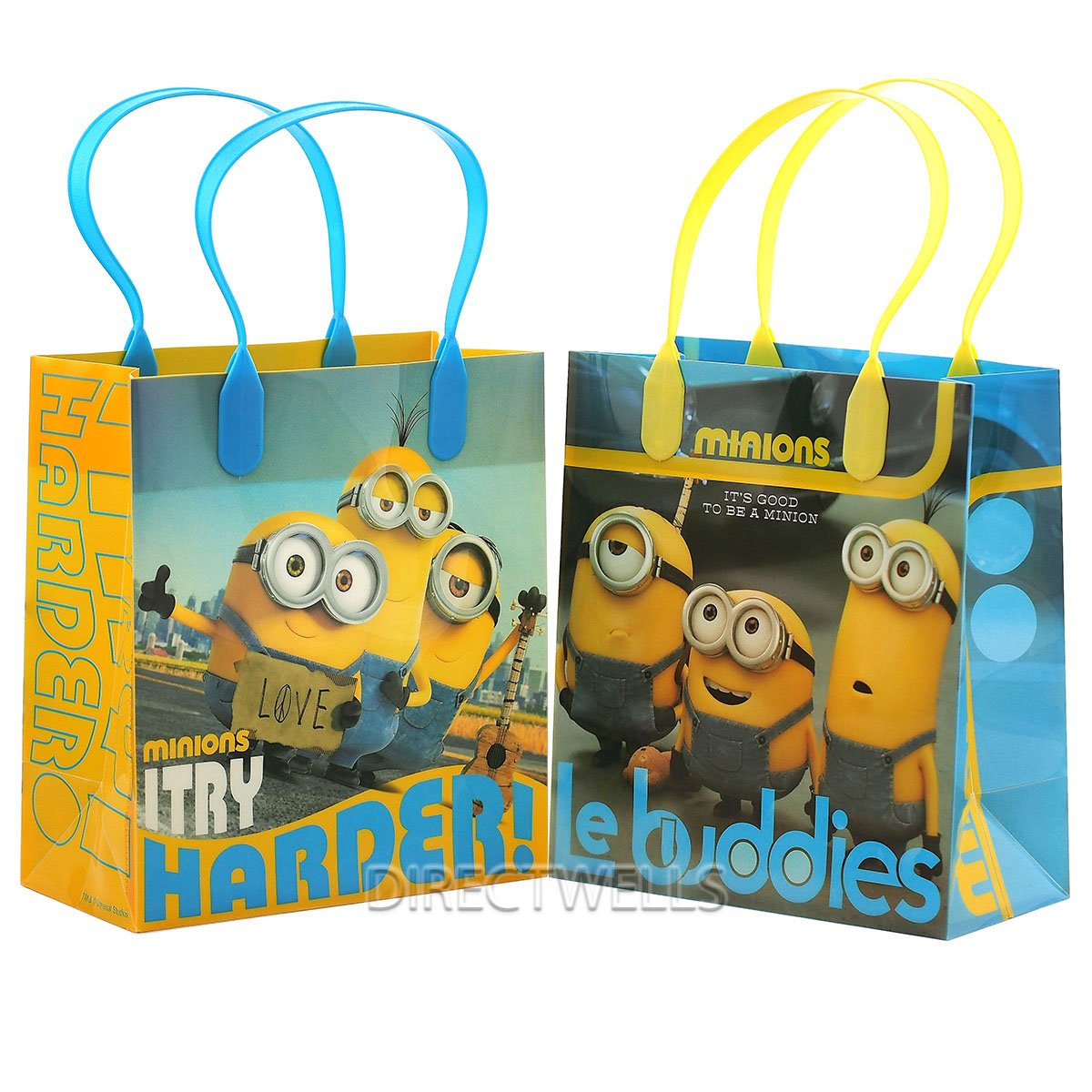 Universal Studios Despicable Me Minions Le Buddies Premium Quality Party Favor Goodie Small Gift Bags 12 by Universal Studios (Image #1)