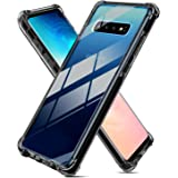 Weuiean for Galaxy S10 6.1 Inch Clear Case [Shock-Proof Drop Protection] with [Sound Conversion] Feature Flexible Soft Silico