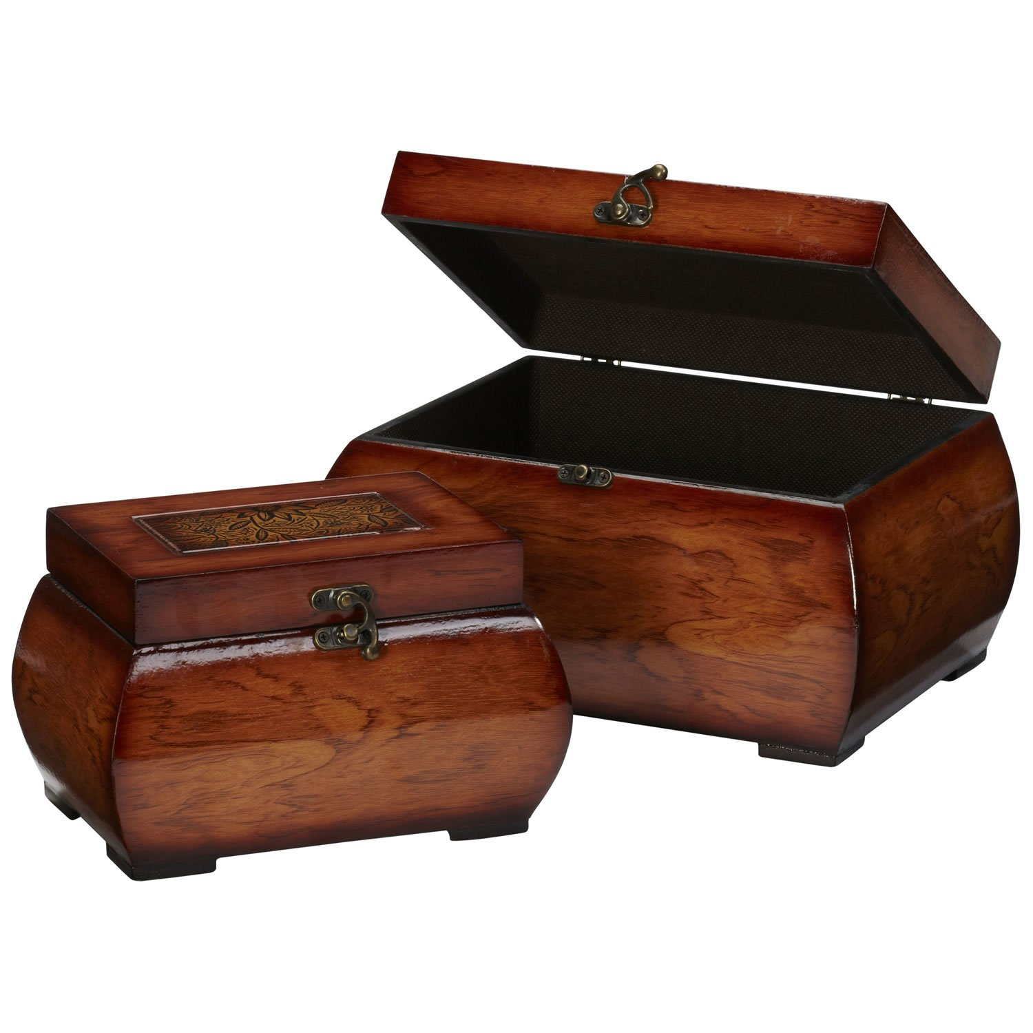 New Decorative Lacquered Wood Chests (Set of 2) NA by Generic (Image #2)