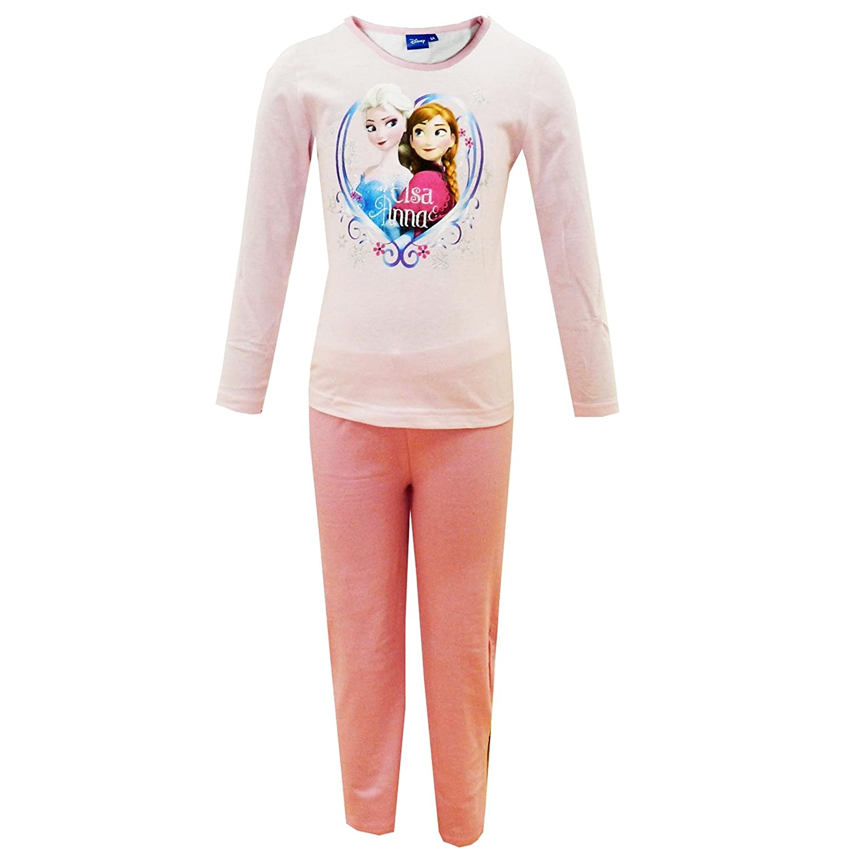 Disney Frozen Girls Long Sleeve Pyjamas Set Sisters Anna /& Elsa Nightwear