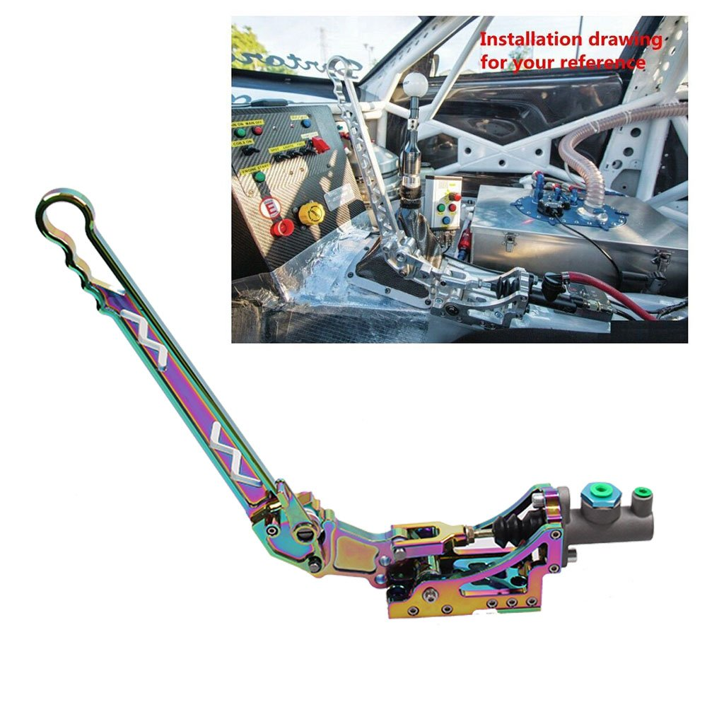 New Adjustable Auto Vertical Hydraulic Drift Aluminum Handbrake With Gear + Special Master Cylinder JDM Neo Chrome by RYANSTAR