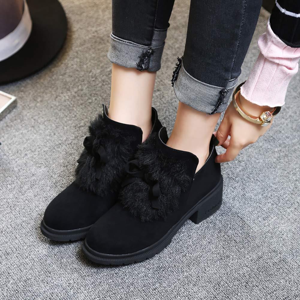 Mode Frauen Vintage Martin Schuhe Mitte Stiefel Stiefel Stiefel Keil Herbst Ankle Schuhe Stiefel Runde Kappe Knöchel Starke Ferse Stiefel Lässige Martin Schuhe e13ae6