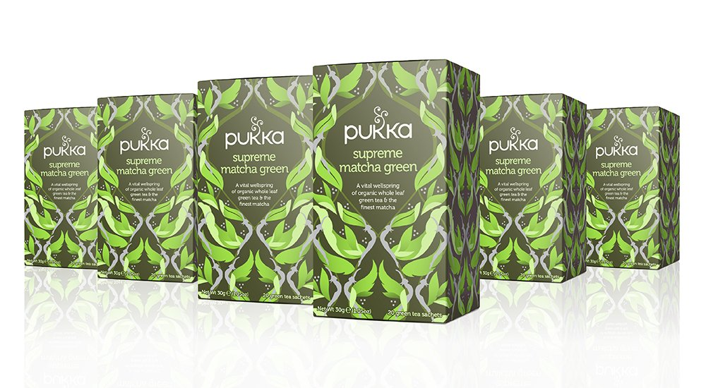 Pukka Supreme Matcha Green, Organic Herbal Green Tea with Oothu, Sencha & Suio Gang, 20 Count (Pack of 6)