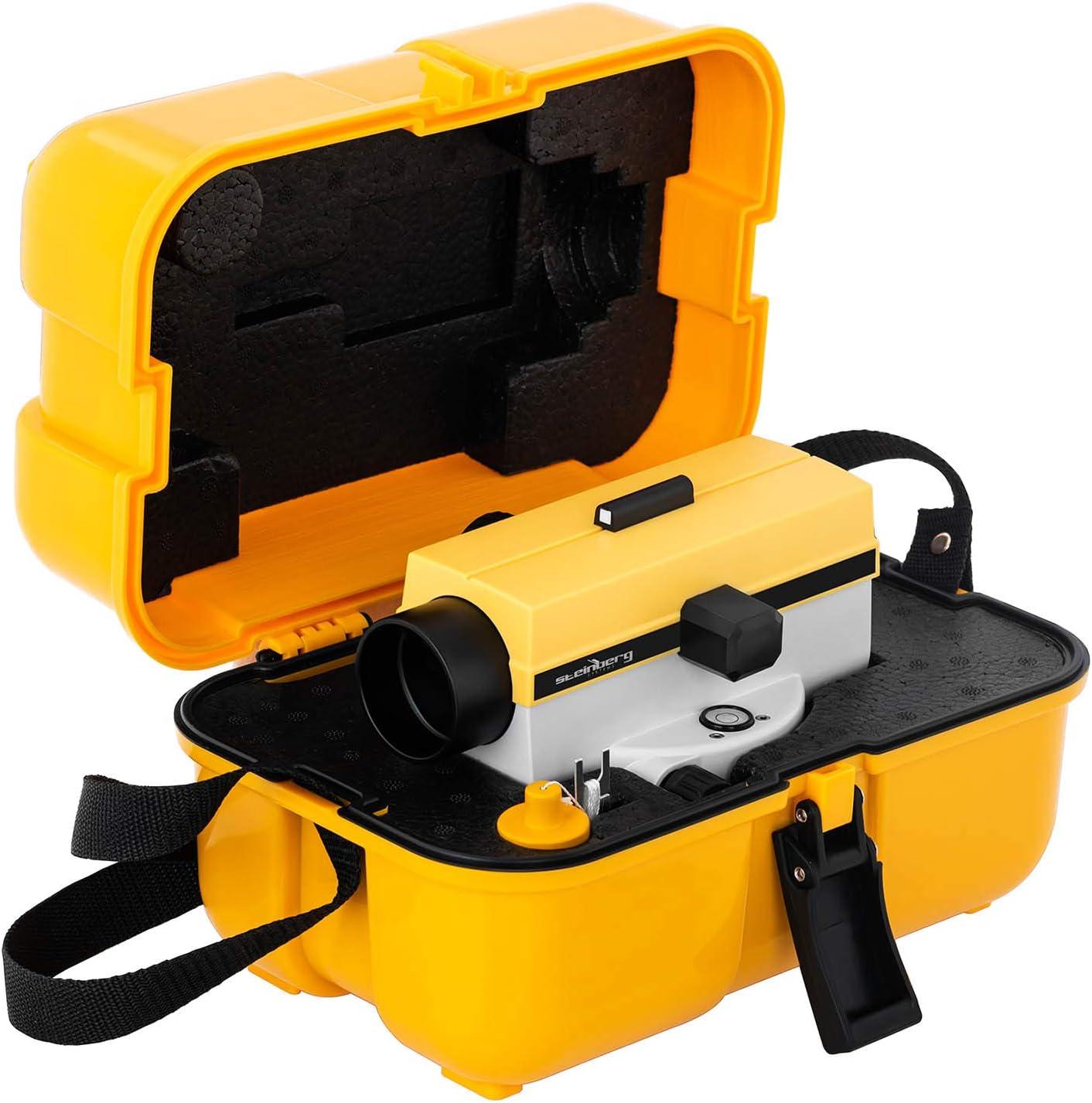 Con tr/ípode y mira, 24 aumentos, Lente 36 mm, Desviaci/ón 2 mm, Compensador amortiguado por aire Steinberg Systems Nivel /Óptico Para Topograf/ía SBS-LIS-24//36