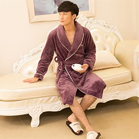 402fc7e860 ZHANGYONG Ladies pajamas gown female flannel bathrobe thickened in autumn  and winter male coral fleece couple Clubman bathrobe