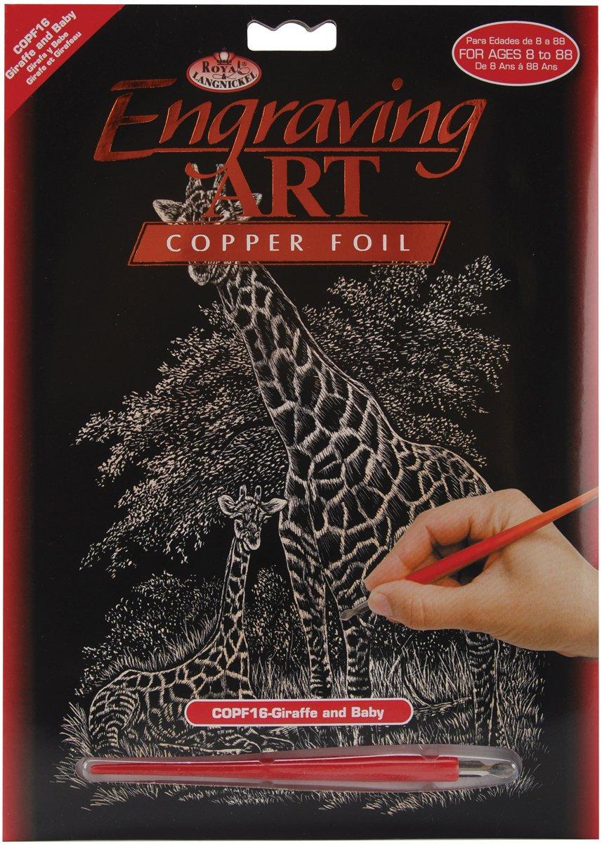 B000K6EBE0 Royal and Langnickel Copper Engraving Art, Giraffe and Baby 71MUjF5Gu6L