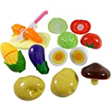Toyshine Realistic Sliceable 12 Pcs Vegetables Cutting Play Toy Set