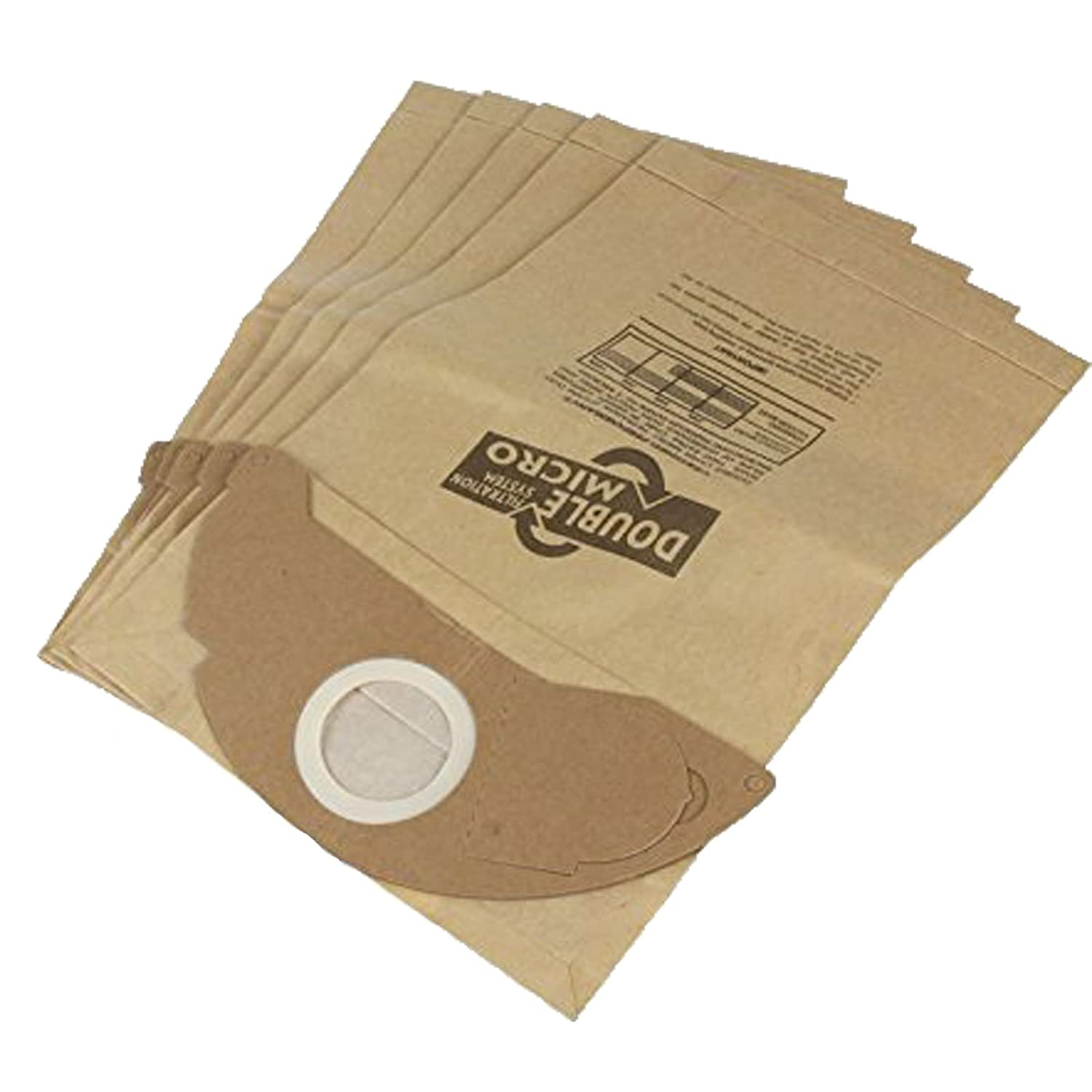 Vacspare 5 Double Micro Paper Dust Bags Premium Quality Cartridge Filter For Karcher MV2 Wet /& Dry Vacuum Cleaners