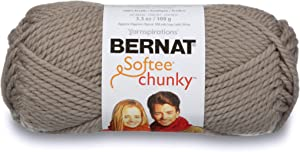 Bernat Softee Chunky Yarn, 3.5 Oz, Gauge 6 Super Bulky, Clay