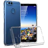 Huawei Honor 7X Clear Case, CoverON ClearGuard Series Hard Slim Fit Phone Cover with Clear Back and Flexible TPU Bumpers for Huawei Honor 7X - Clear