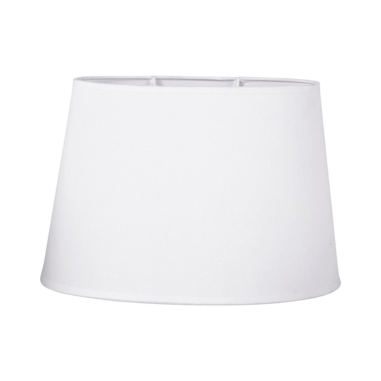 Sema 97123 Abat-Jour Ovale Blanc Base 31cm, Texture Sema Design
