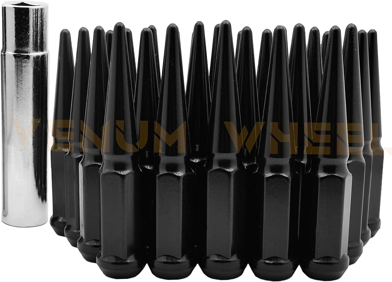 20PCS DODGE//RAM 6/'/' TALL RED 9//16-18 SPIKE LUG NUT+KEY FIT DODGE//RAM MODELS