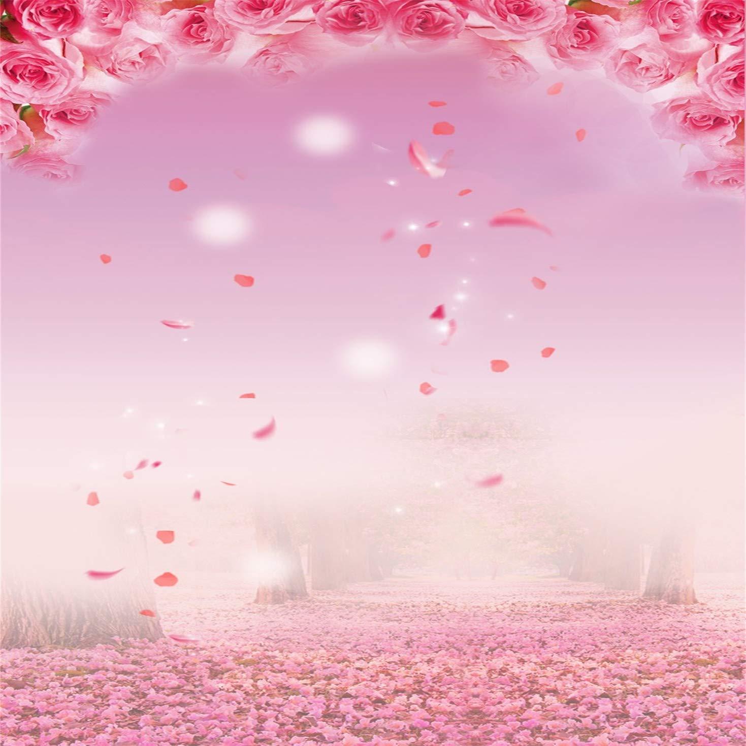 【500円引きクーポン】 Kate B07M5YXFTY 10x10フィート ピンクの花 写真背景 Kate 写真背景 ステージ装飾 花びら 誕生日写真ブースの背景 (ポケット付き) B07M5YXFTY, ミハルマチ:a734e622 --- arianechie.dominiotemporario.com