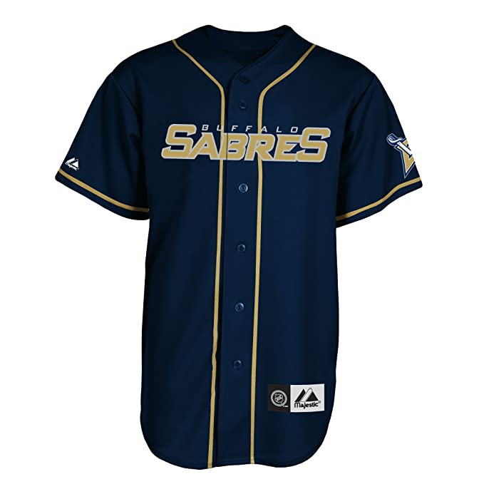 8e1b5913f NHL Mens Buffalo Sabres Replica Jersey Pro Navy Pro Light Gold Short Sleeve  6 Button