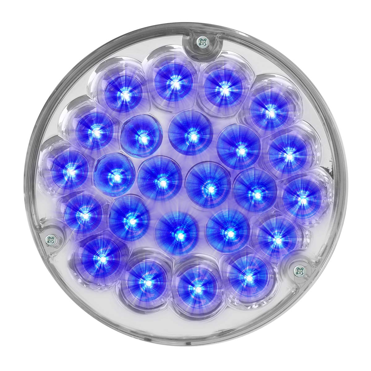 GG Grand General 82277 LED Light (4'' Pearl Blue 24 with Clear Die Cast Housing) by GG Grand General