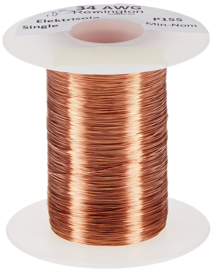 Remington Industries 34SNSP.25 34 AWG Magnet Wire, Enameled Copper ...