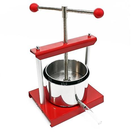 Mini prensa para frutas de 1,5 litros de acero inoxidable ...