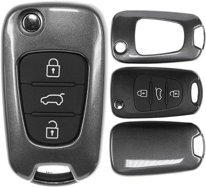 Klapp Schlüssel Cover Hülle Für Hyundai I30 Ix20 Ix35 Elektronik