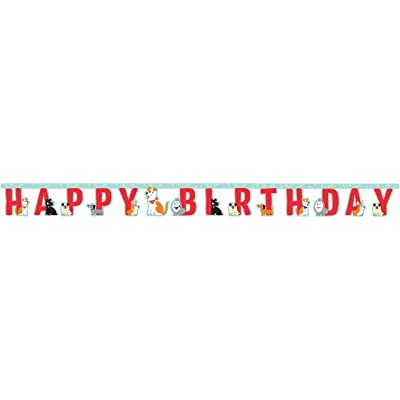 Creative Converting Dog Party Happy Birthday Banner: Toys & Games